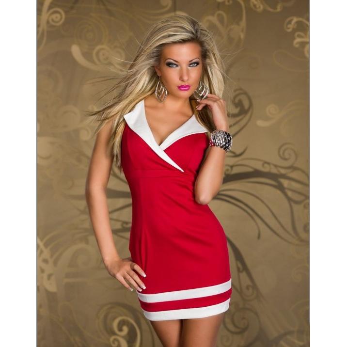 Красное Платье С Белыми Рукавами